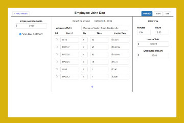 Employee Invoice Page