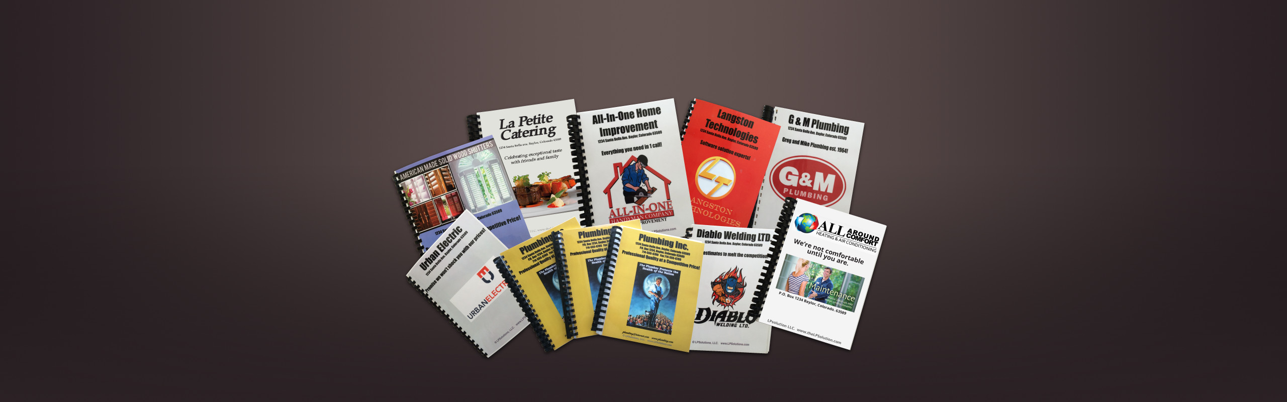 customizable flat rate price books for all service industries displayed on a flat surface